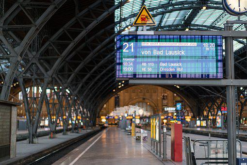 Railway Station, Departure, Time, Display, Modern