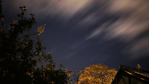 Stars, Clouds, Long, Exposure, Sky, Galaxy