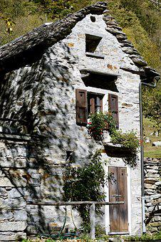 Home, Stone House, Architecture, Building, Facade