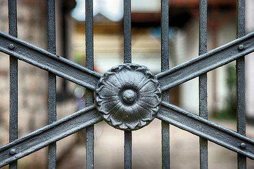 Fence, Iron, Grid, Metal, Old, Foreclosure, Limit
