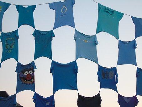 T-shirt, Coconut, Blue, Fun, Summer