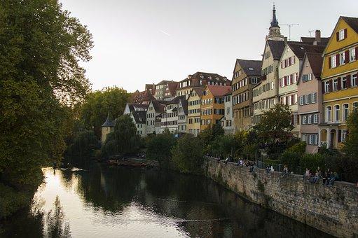 Tübingen, City, Neckar, Baden Württemberg, Germany