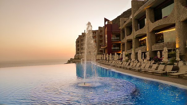 Infinity Pool, Pool, Hotel, Gran Canaria, Travel