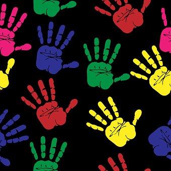 Handprints, Hand Print, Colourful, Colorful, Print