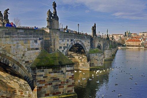 Prague, Czech Republic, Bridge, Karl, Historical City