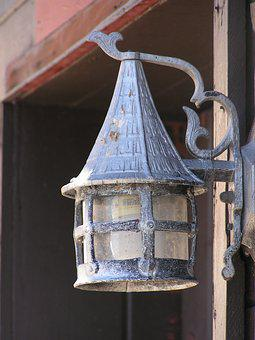 Scotty's Castle, Lamp, Death Valley