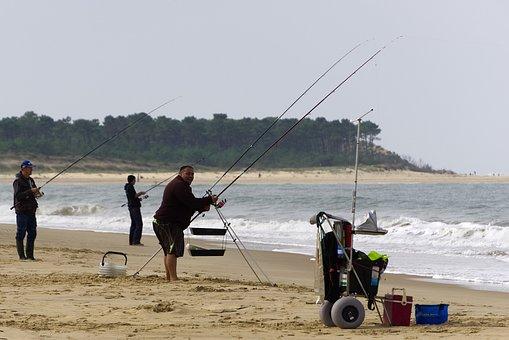Fishermen, Fishing, Ocean, Leisure, Ronce-les-bains