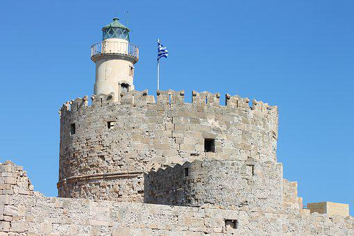Agios Nikolaos Castle, Mandraki, Port, Rhodes, Greece