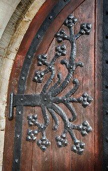 Door Hardware, Detail, Iron, Blacksmithing, Metal