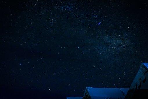 Night Photography, Night Sky, Leh, India, Tent
