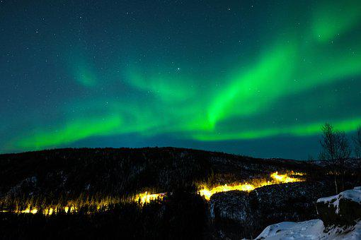 Northern Lights, Sky, Three, The Nature Of The
