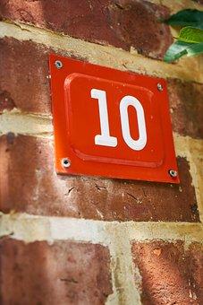 Number, 10, Ten, Building, Home, Door, Mail, Mail Box