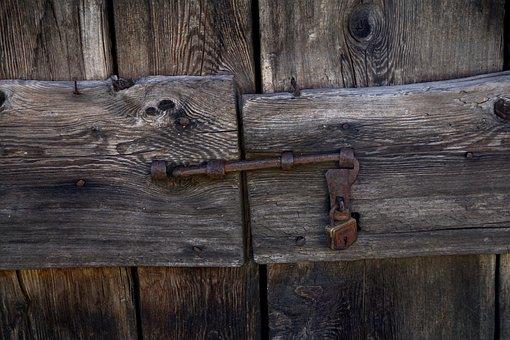 Wooden Door, Castle, Old Wooden Door, Old, Padlock
