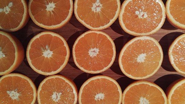 Oranges, Half, Symmetry, Citrus Fruits, Juice, Fruit