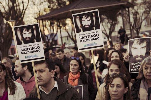 March, Protest, Santiago, Maldonado, People, Banner