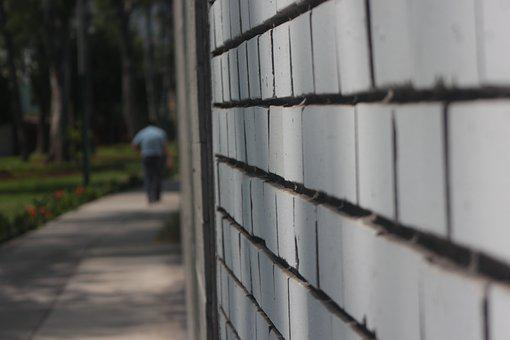 Path, Street, Wall, Lime, Trees, Person, Soledad, City