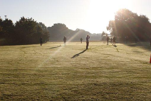Football, Morgenstimmung, Players, Sunrise, Sport, Play