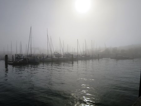 Port, Fog, Constance, Mood, Lake Constance
