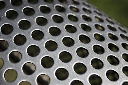 The Background, Metal, Round, Hole, Bench