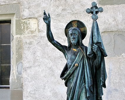 Jesus, Christ, Sculpture, Church, Faith, Cross, Sadness