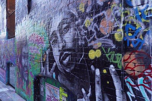 Street Art, Hosier Lane Art Style, Contemporary