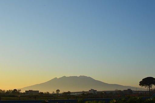 Landscape, View, Italy, Volcano, Vesuvius, Outdoor