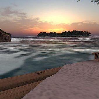 Beach, Ocean, Sunset, Water, Beautiful, Sunrise