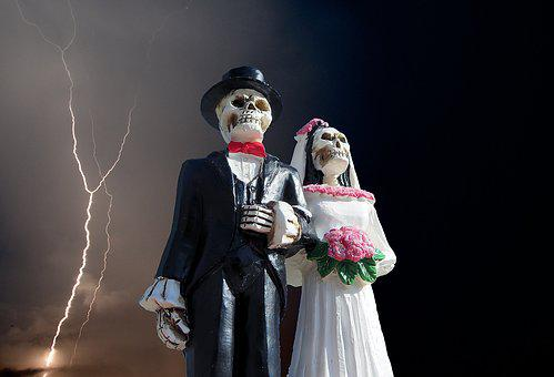 Halloween, Skeleton, Wedding, Scary, Horror, October