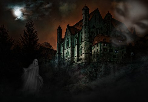 Castle, Mystical, Ghosts, Creepy, Weird, Fear, Mood