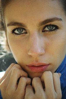 Women's, Girl, Model, Lip, Eye, Overviews, Blue, Human