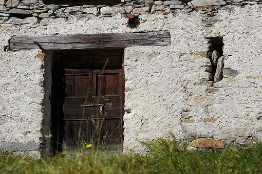 Wooden Door, Wood, Door, Old, Input, Close Up