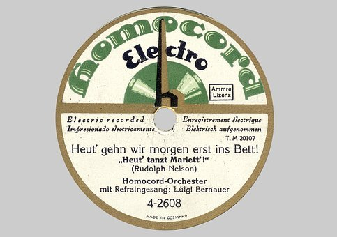 Shellac Disc, Shellac, 78rpm, Label, Homo Cord, Tinge