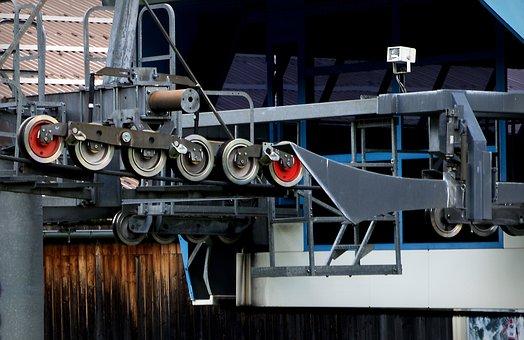 Castors, Bottom Station, Ski Lift, Technology