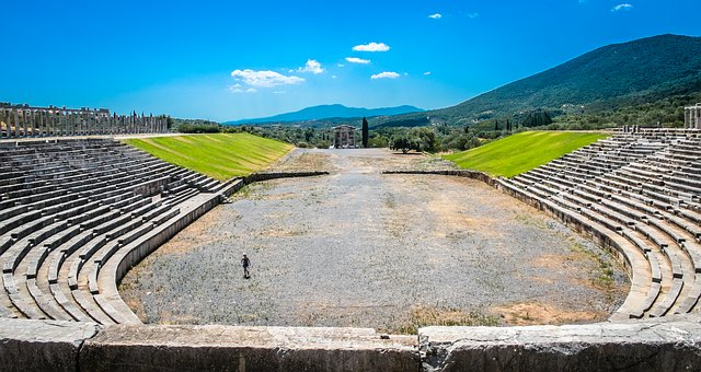 Ancient Messini, Stage, Ancient Greece, Temple
