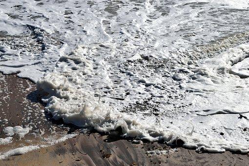 Ocean Foam, Ocean, Water, Background, Backdrop, Sea