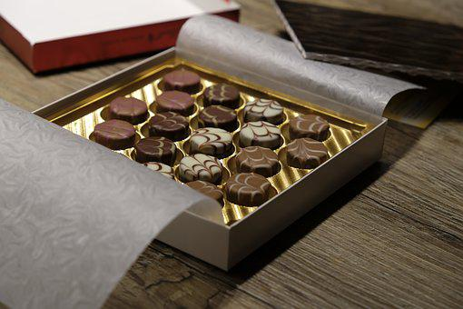 Chocolates, Chocolate, Candy, Chocolate Praline