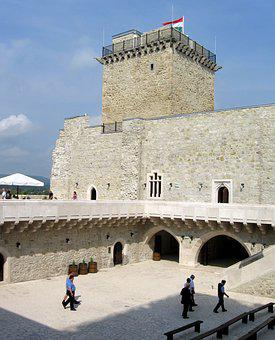 Castle Of Diósgyőr, Castle, Tower, Monument, Flag