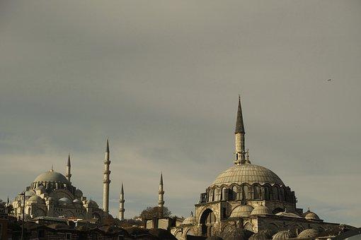 Cami, Dome, Turkey, Istanbul, The Minarets, Beautiful