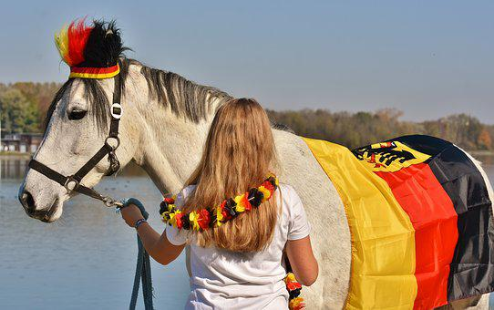 Mold, Girl, Germany, World Cup 2018, Football, Horse