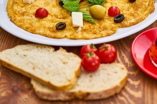 Omelet, Bread, Healthy Food, Food, Healthy, Food Photo