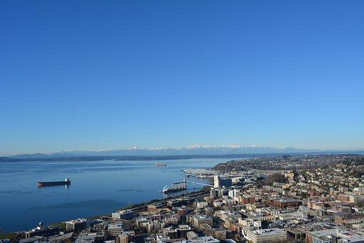 United States, Seattle, Sea, House, High