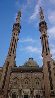 Mosque, Al-nour Mosque, Islam, Buildings, High, Arab
