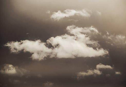 Clouds, Backgrounds, Sky, Nature, Light, White, Summer