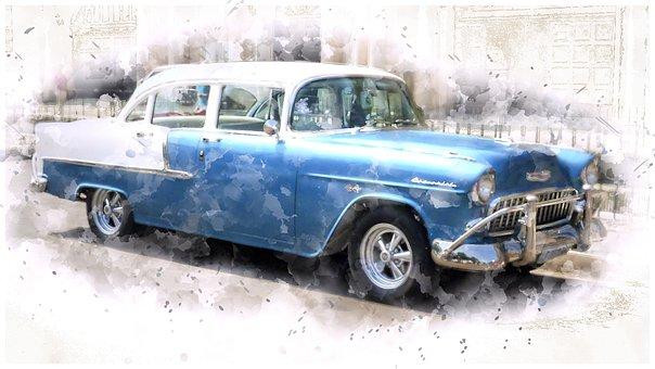 Chevrolet, Cuba, Havana, Oldtimer, Nostalgic, Vehicle
