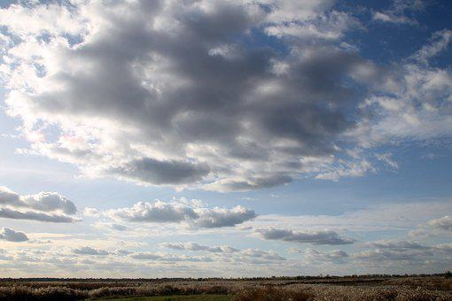 Sky, Clouds, Nature, Weather, Partly Cloudy, Autumn