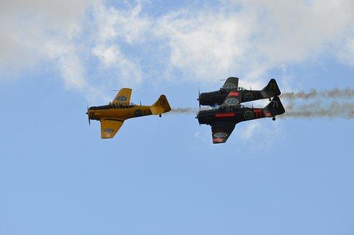 Airshow, Vintage, Planes, Airplane, Aircraft, Retro