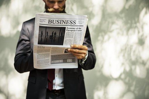 Reading, Paper, Data, Business, Man, Financial