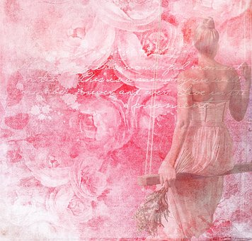 Texture, Roses, Rose Texture, Woman, Swing, Flora