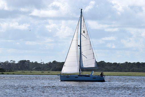 Sail Boat, Sailing, River, Boat, Sail, Water, Sea
