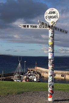 Scotland, John O'groats, Scottish, Coast, Sea, Highland
